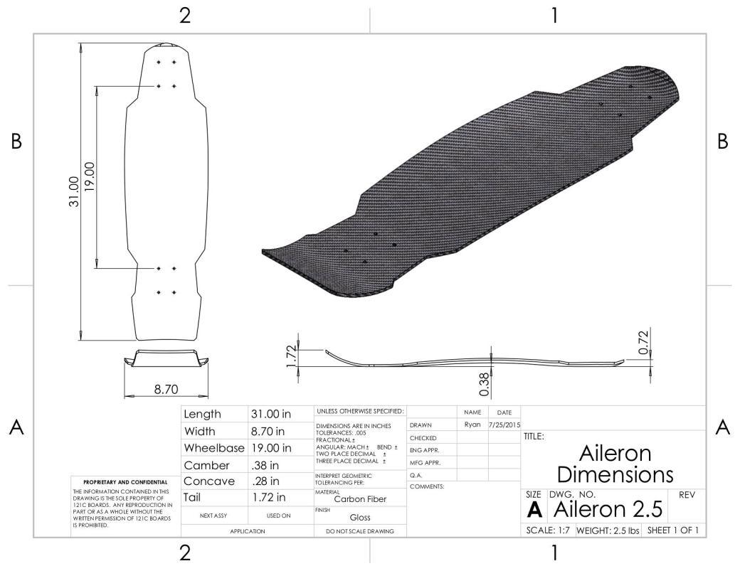 Aileron-Dimensions